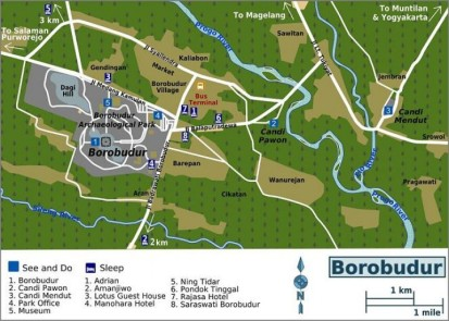 Borobudur Tample map