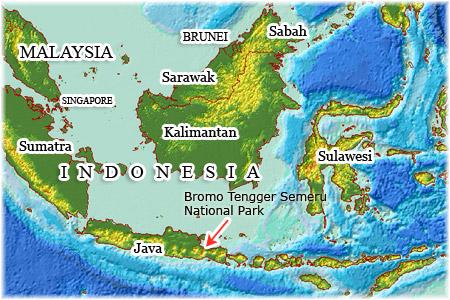Bromo Mountain map