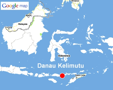 Danau Kelimutu map