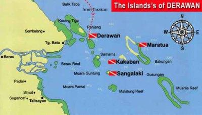 Maratua Island map