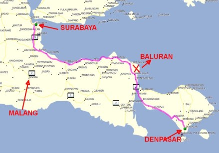Baluran National Park map